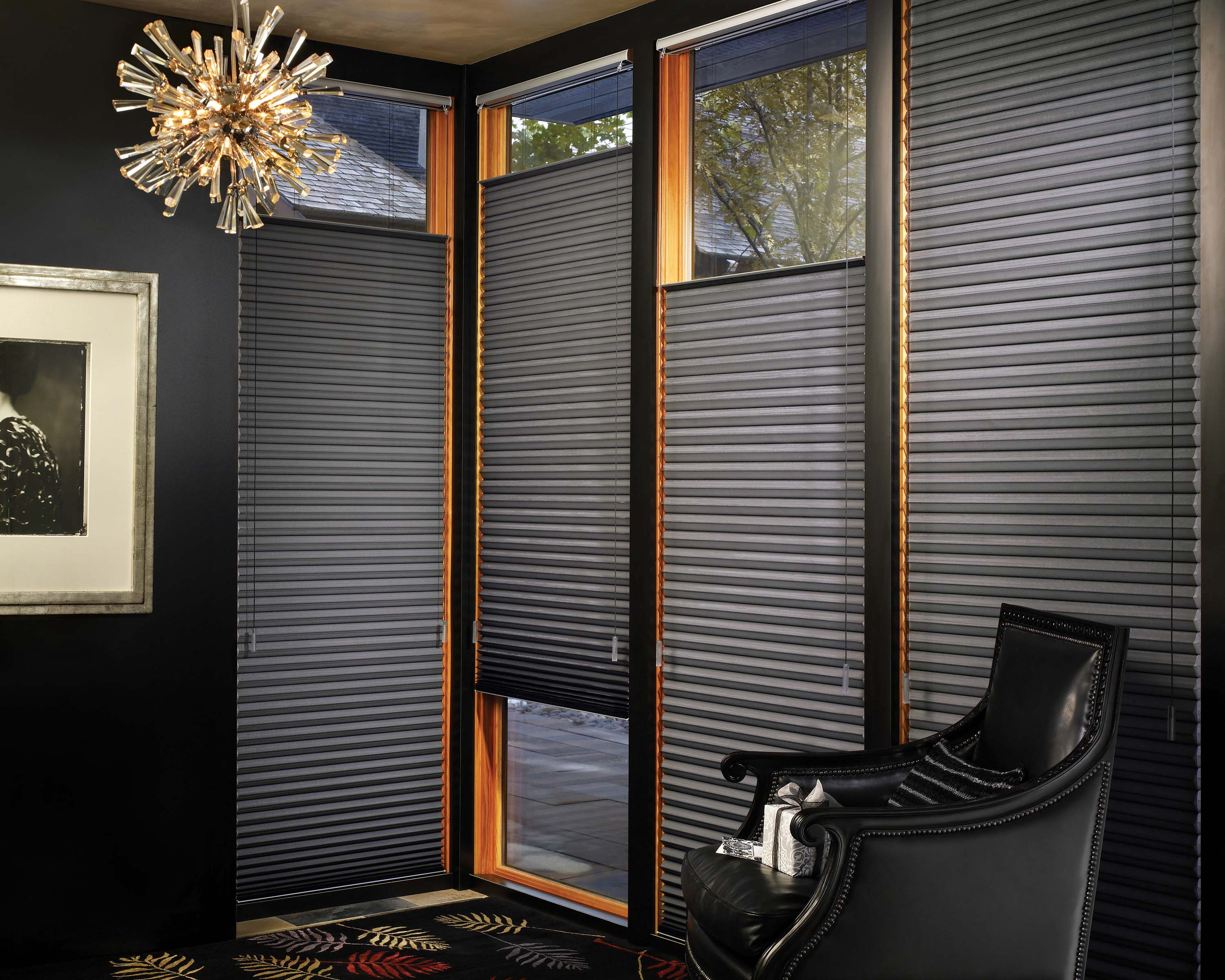 hunter douglas duette architella honeycomb shades custom window treatments by jacoby company. Black Bedroom Furniture Sets. Home Design Ideas