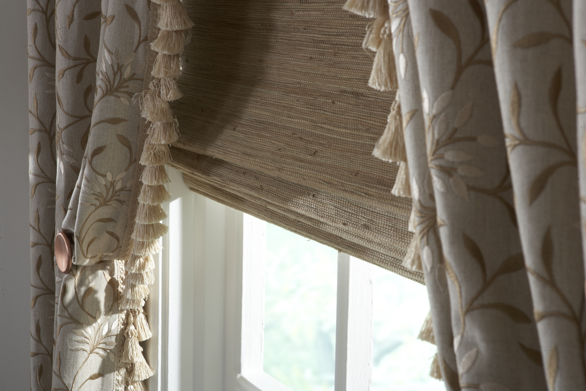 Natural Woven Shades Featuring Cordless One Operating System Custom Window Treatments By Jacoby Company Custom Window Treatments By Jacoby Company